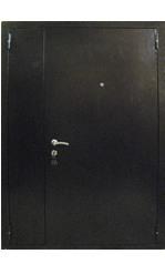 техническая двери металлические уличные двухстворчатая